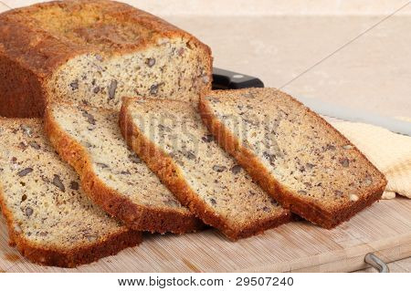 Sliced Nut Bread