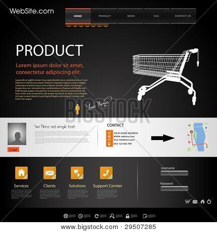 Plantilla de elementos del sitio web de diseño de Web