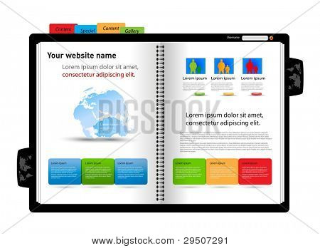 Web site design template, diary design