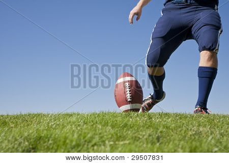 Football Kickoff (Horizontal photo with copy space)