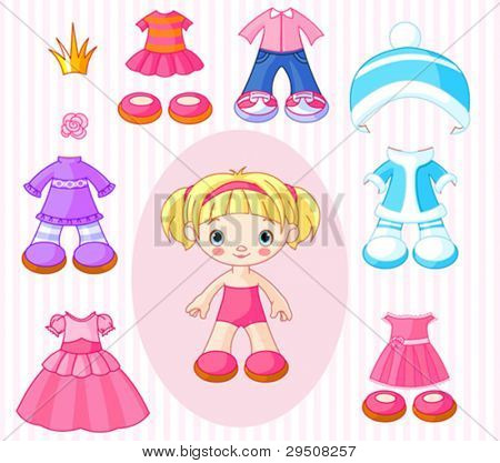 Paper Doll with different clothes