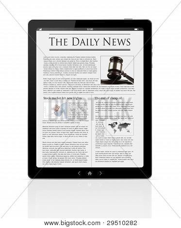 Business News At Digital Tablet