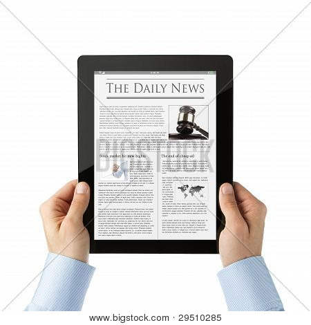 Leer noticias en tableta Digital