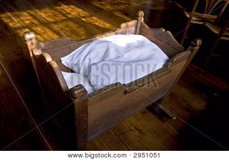 Old Wooden Bed From A Child
