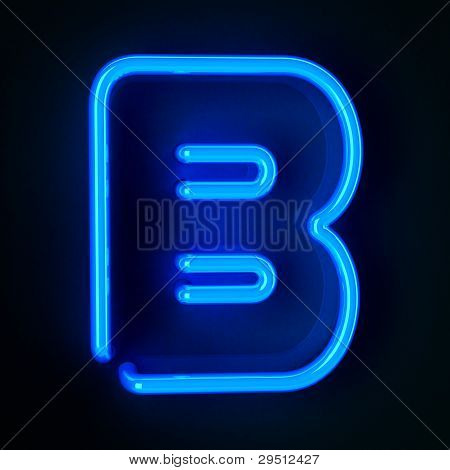 Neon Sign Letter B