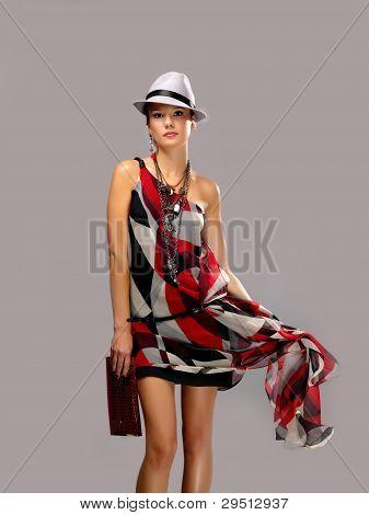 woman in  dress