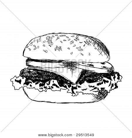 Doodle Hamburger
