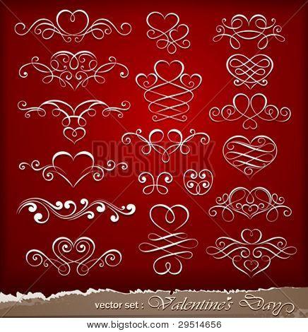 Decorative elements on Valentine's Day