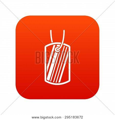 Army Badge Icon Digital Red