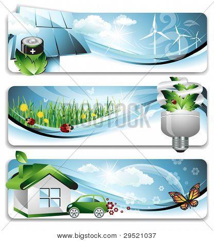 Eco Banners - EPS 10