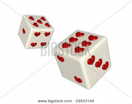 Dice With Hearts