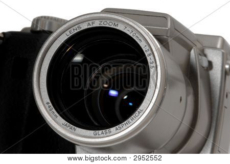 Digital Camera Lens Detail Closeup