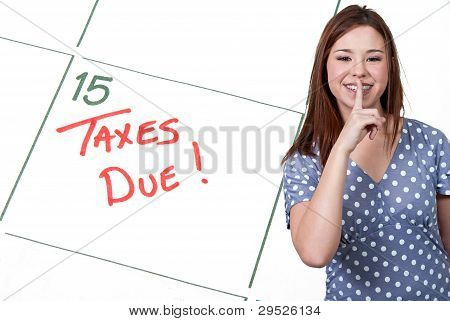 Woman Taxes Due