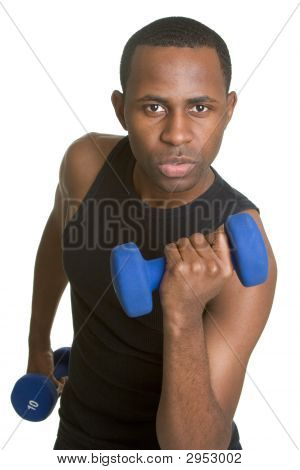 Fit Young Black Man