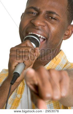 Black Artist Pointing