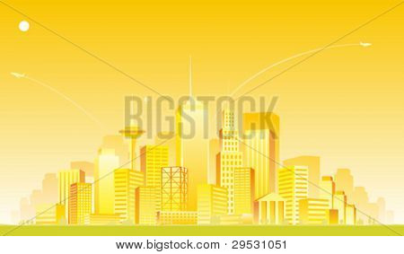vector Gold City