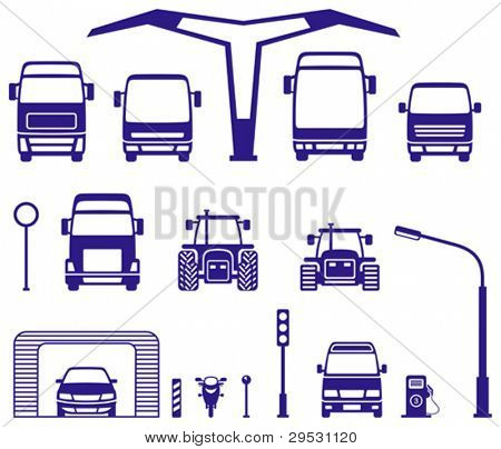 icons travel, transport, car (vector)