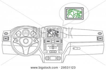 salpicadero del coche (vector)