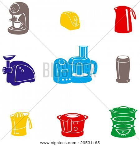 kitchen electric stuff (vector)