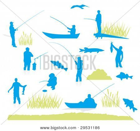 fishing silhouette (vector)