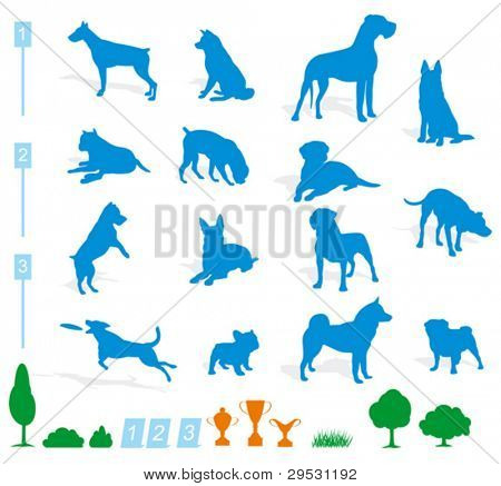 dog silhouette (vector)
