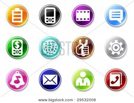 Set of small mobile phone icons. Good looking in small size.