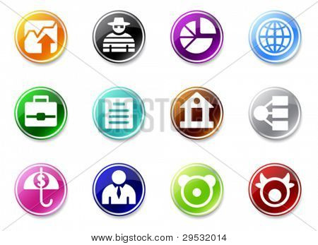 Set of small business icons. Good looking in small size.