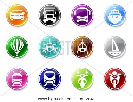 An illustrasion set of simple transport icons for your website, application, or presentation.  Good looking in small size.