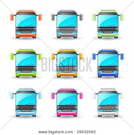 An illustrasion bus icon for your design, website, application, presentation, or ...  Good looking in small size.