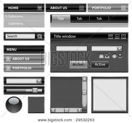 Sitio web tema - negro fuerte