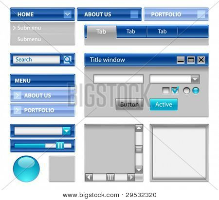 Web site theme - strong blue