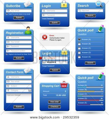 Formularios del sitio web