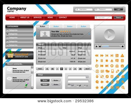 Web site theme