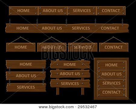 Wooden web menu