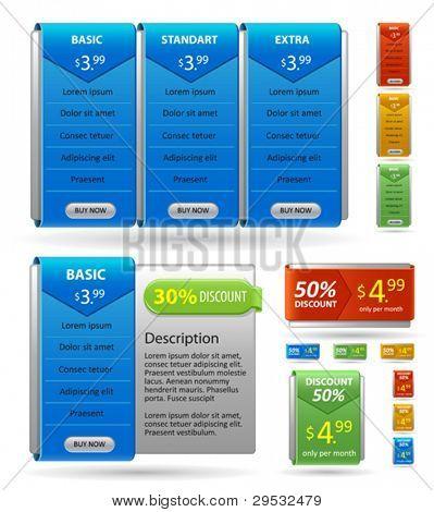 Lista de precios de hosting
