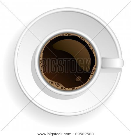 Vector white coffe cup.