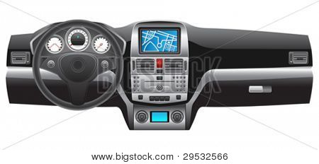 Vector car dashboard.