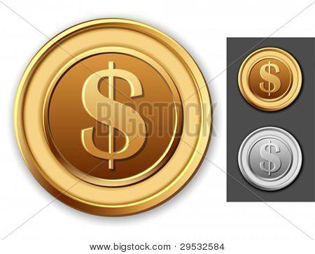 Dollar coin.