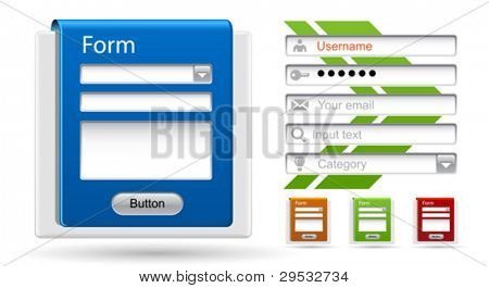 Vector forms for your website, design, application, presentation.