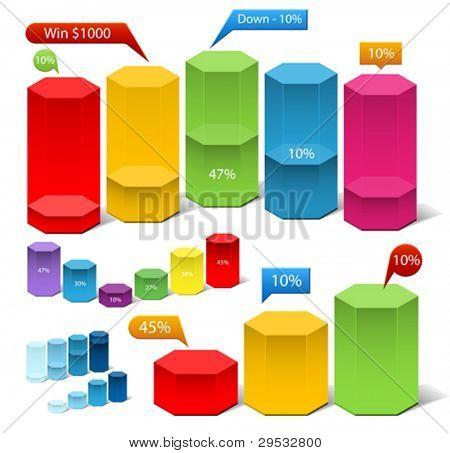 Relatório de finace do vetor. Fácil de mudar a cor e tamanho, você deve alterar a cor de uma forma.