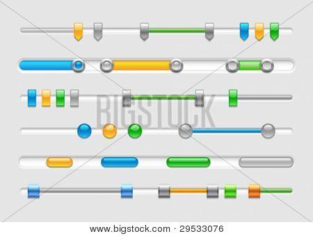 Controle de vetor ou barras de rolagem horizontal