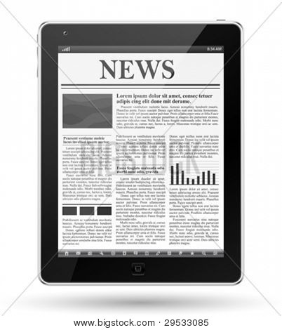 News on tablet pc.