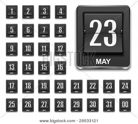 Kalender Countdown-Symbol