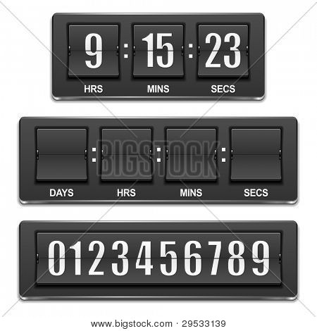 Countdown timer, date