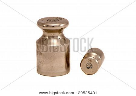 Isolated Two Metallic Calibration Weights