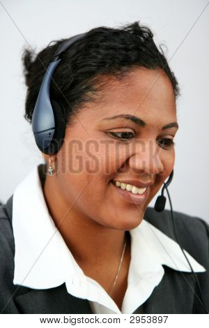 Businesswoman Taking Calls
