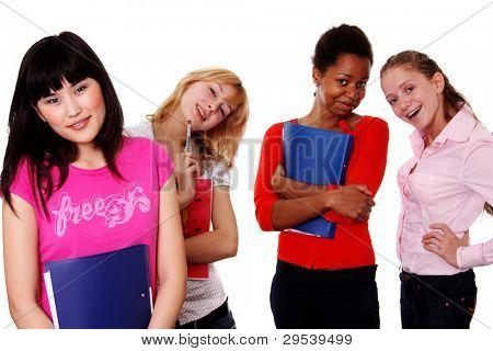 education etnic little girls