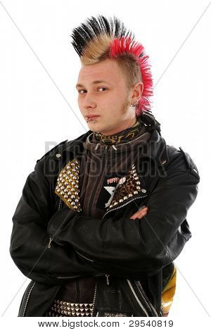 Punk guy with mohawk