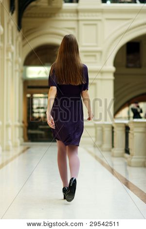 The leaving girl