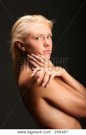 Sultry Implied Nude Model.